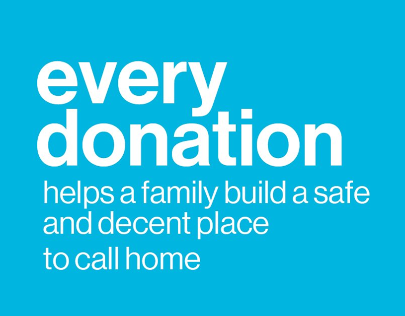 every donation helps a family have a home Habitat for Humanity of Wayne County New York